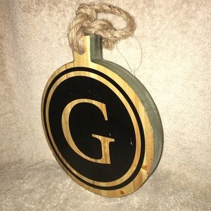 Wall hanging wooden Plaque  Letter G